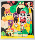 'Discordant Circus' by Felix Harris, New Zealand artist, Gilberd Marriott Gallery Wellington New Zealand