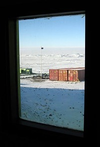 antarctica, scott base, view, photograph from 'Looking North'  by Phillipa Durkin, 2007